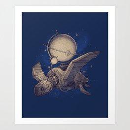 Globe Transporter Art Print