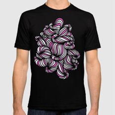All over the place Mens Fitted Tee MEDIUM Black