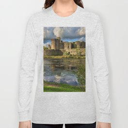 Caerphilly Castle Moat Long Sleeve T-shirt