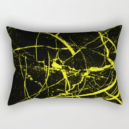 Yellow Marble Pattern - Abstract, black and yellow Rectangular Pillow