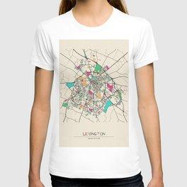 Colorful City Maps: Lexington, Kentucky T-shirt