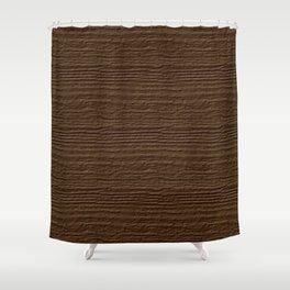 Sepia Wood Grain Color Accent Shower Curtain
