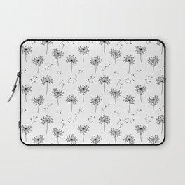 Dandelions in Black Laptop Sleeve