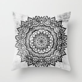 BLACK JEWEL MANDALA Throw Pillow