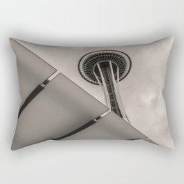 Space Needle sepia Rectangular Pillow