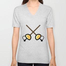 Fencing Super Cute Gift Idea Unisex V-Neck