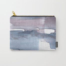 Dark gray colorful watercolor texture Carry-All Pouch