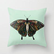 swallowtail butterfly mint Throw Pillow
