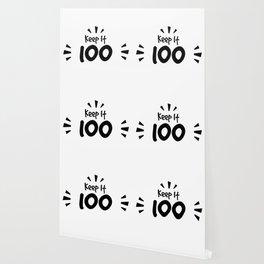 Keep It 100 Smol Bean Design Wallpaper