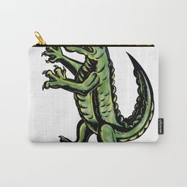 Crocodile Standing Up Tattoo Carry-All Pouch