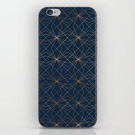 Navy & Copper Geo Lines iPhone Skin