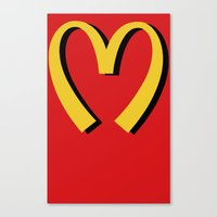 moschino Canvas Prints featuring McDonald's MOSCHINO by RickyRicardo787