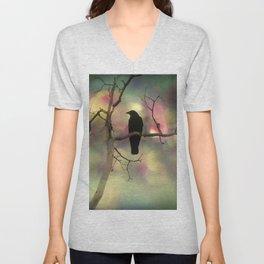 Crow Dreams In Colors Unisex V-Neck