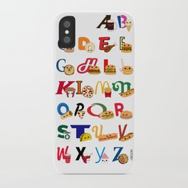 Fast Food Alphabet iPhone Case