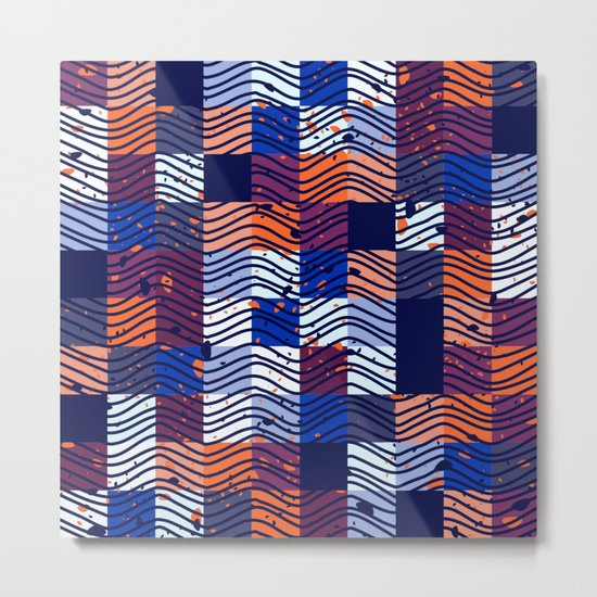 Square Wave Metal Print