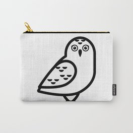 White Owl Icon Carry-All Pouch
