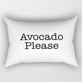 Avocado Please Rectangular Pillow