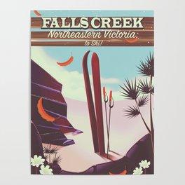 Falls Creek, Northeastern Australia Ski poster, Poster