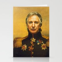 replaceface Stationery Cards featuring Alan Rickman - replaceface by replaceface