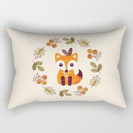 LITTLE FOX WITH AUTUMN BERRIES Rectangular Pillow