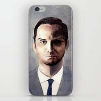 moriarty iPhone & iPod Skins featuring Jim Moriarty by Ow Wei Yi