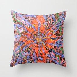 Cosmic Spore Print Throw Pillow
