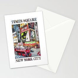 Times Square NYC (poster edition) Stationery Cards