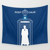 dr who Wall Tapestries featuring Dr Who - Strokes by Chimaera Designs