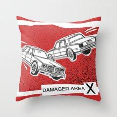 Left Car, Right Car Throw Pillow