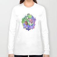 yoshi Long Sleeve T-shirts featuring Yoshi and Baby Yoshi by likelikes