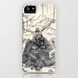 Koko Love Graphite Drawing iPhone Case