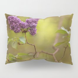 Blooming lilacs at sunset Pillow Sham