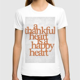 Thankful Heart: Typography T-shirt