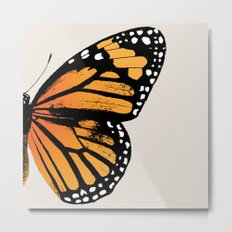 Monarch Butterfly | Right Wing Metal Print