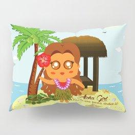 Aloha Girl Pillow Sham