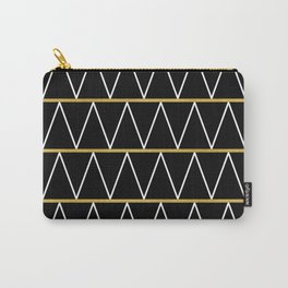 Black and gold zigzag Carry-All Pouch