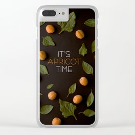 It's Apricot Time Clear iPhone Case