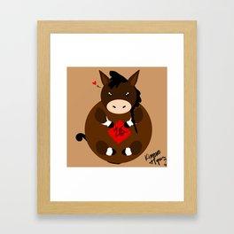 Adorable Horse Framed Art Print