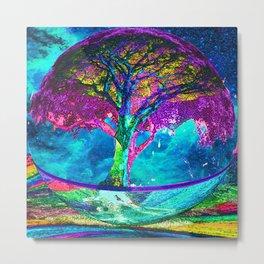 Tree of Life Meditation Metal Print