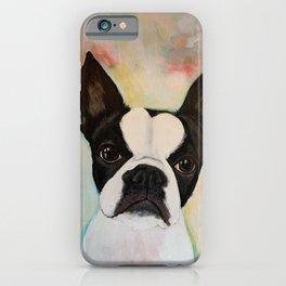 Boston Terrier Birdie iPhone Case