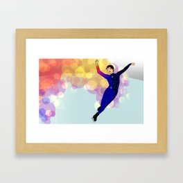 Sunset on Katsuki Yuri Framed Art Print