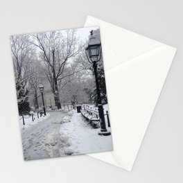 Winter in Washington Square Park Stationery Cards
