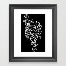 Bang Bang (white ver.) Framed Art Print