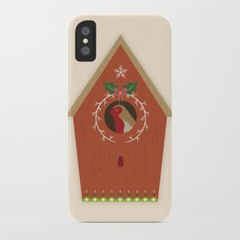 Red Bird House iPhone Case