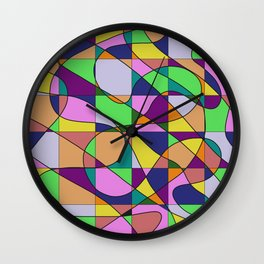 Pastel Pieces Wall Clock