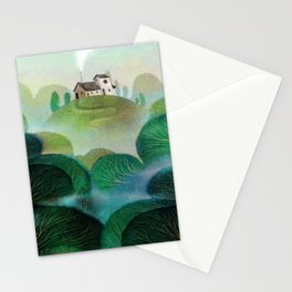 top of the hill Stationery Cards