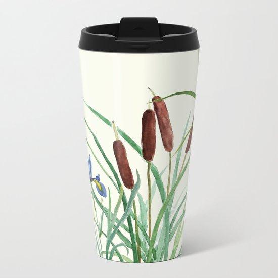 pond-side elegance Metal Travel Mug