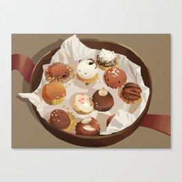 chocolate box life Canvas Print