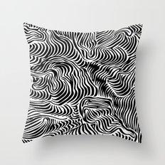 black flow Throw Pillow