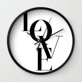 """LOVE"" Typography Art Wall Clock"